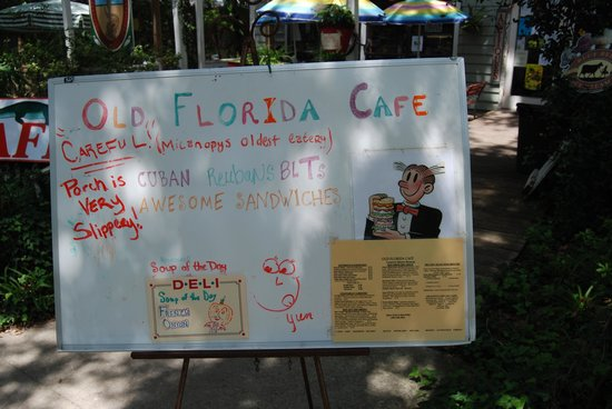 Old Florida Cafe: ad sign