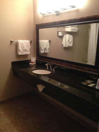 Monarch Hotel and Conference Center: Bathroom