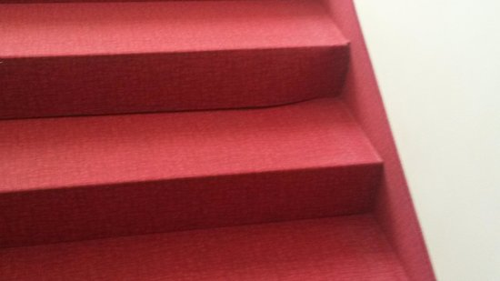 Hotel New Tiffany's Park: dirt on stairs carpet lifting (main staircase)