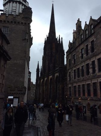 Royal Mile : a rainy day on the mile