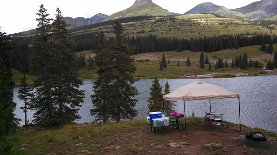 Molas Pass: view of the lower part of our campsite