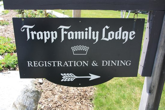 Trapp Family Lodge Outdoor Center: Sign