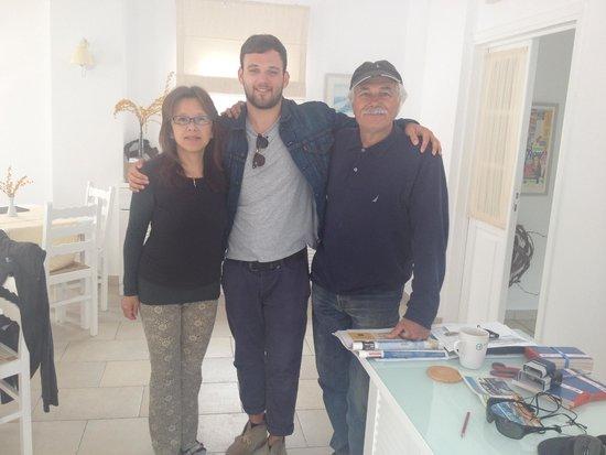 Zorzis Hotel: Hiroko, George and Spiros