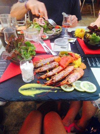 Cap'tain Bar : Assiette de Gambas à la plancha