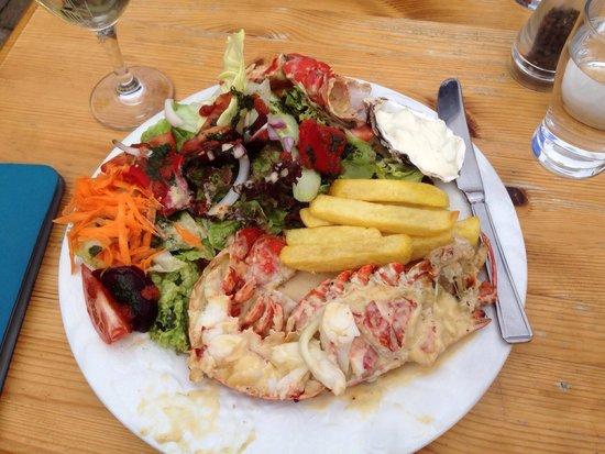 Fish At the Marina: Lobster platter