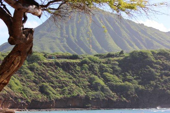 Hanauma Bay Nature Preserve: The Pretty Mountains surrounding the cove!
