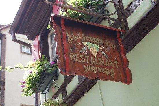 Restaurant La Grappe d'Or : Enseigne
