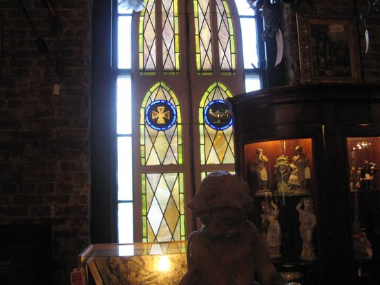 Joe Ley Antiques: Stain glass throughout