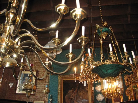 Joe Ley Antiques: Great selection of chandeliers