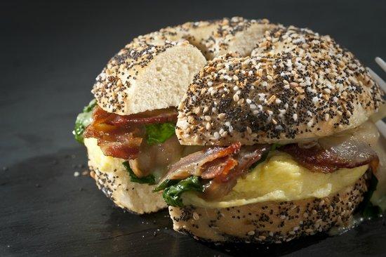 The Works Bakery Cafe: Breakfast Bagel