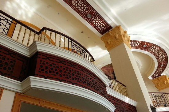 The Palace Port Ghalib: soffitto della sala pranzo