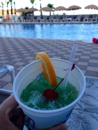 "Hilton Garden Inn South Padre Island: The ""Blue Hawaiian"" from the bar."