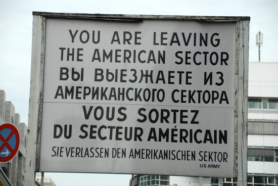 Checkpoint Charlie: Leaving sign