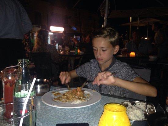 Kashmir Balti : Ben enjoying his curry