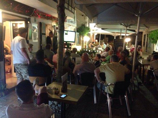 can balache: A terrace full watching the football!