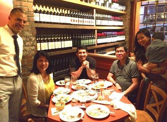 Otto Enoteca & Pizzeria : Enjoying our family dinner at Otto Pizzeria, New York