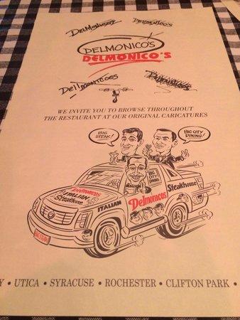 Delmonico's Italian Steakhouse: Cute menu