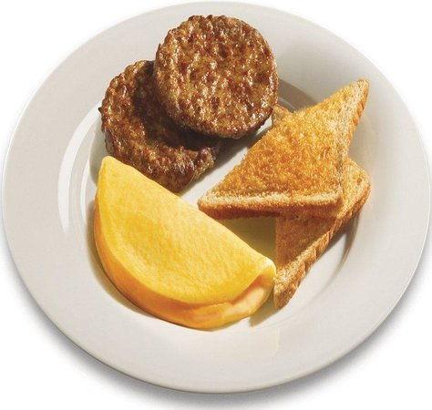 Holiday Inn Express Hotel & Suites Watertown-Thousand Islands: Cheese Omelets & Sausage