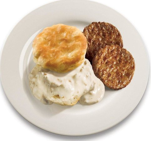 Holiday Inn Express Hotel & Suites Watertown-Thousand Islands: Sausage, Biscuits & Sausage Gravy
