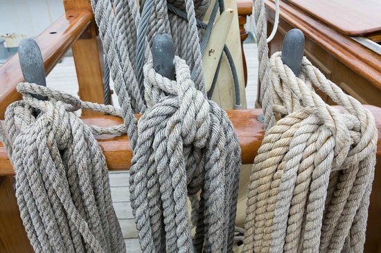 Mystic Seaport: Ropes on the Joseph Conrad (full rigged ship)