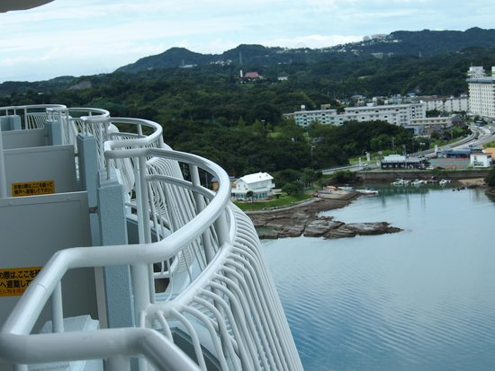 Hotel Harvest Nankitanabe : 広いベランダ