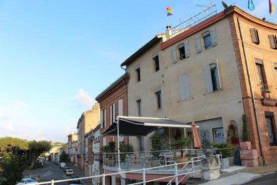 Hotel Restaurant du Pont Napoleon : Terrasse du restaurant