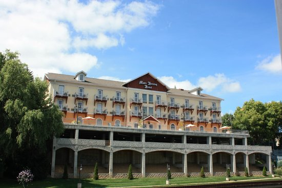 The Marv Herzog Hotel : View of the Marv from the riverboat