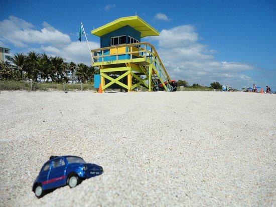 Miami Springs Inn: Playa en frente del hotel