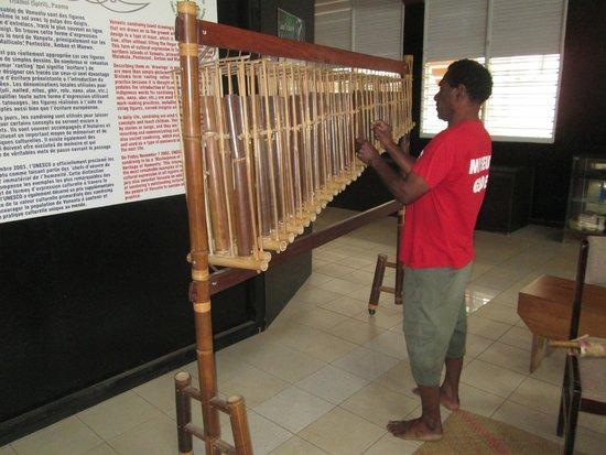 The Vanuatu Cultural Centre: Ernest the musician.
