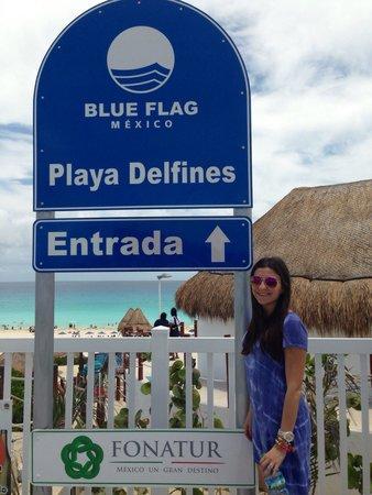 Playa Delfines: Hermoso paisaje!