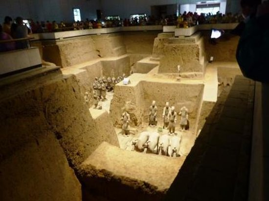 The Museum of Qin Terra-cotta Warriors and Horses: Subsidiary hall.