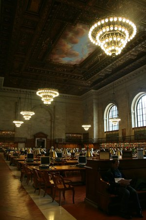 New York Public Library: The main reading room