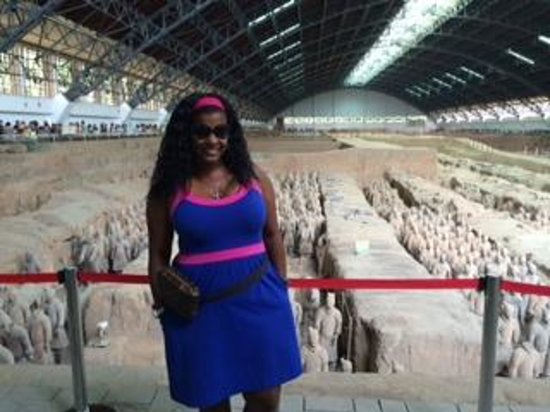 The Museum of Qin Terra-cotta Warriors and Horses: Me at the Terracotta Warrior site