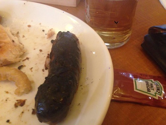 The Acorn Hotel: That is meant to be a sausage!