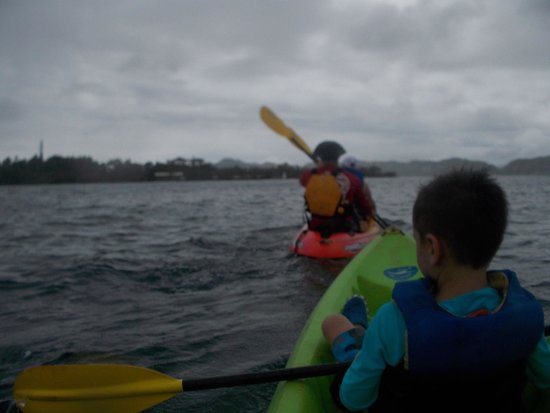 Holokai Kayak and Snorkel Adventure : Boris working overtime, kayaking for four