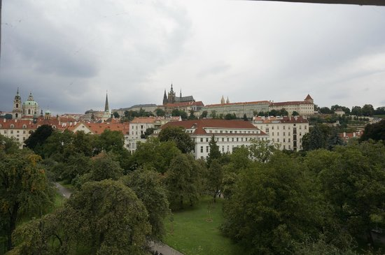 Hotel U Pava: View from the room (West)