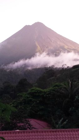The Springs Resort and Spa: View from my balcony of th valcano
