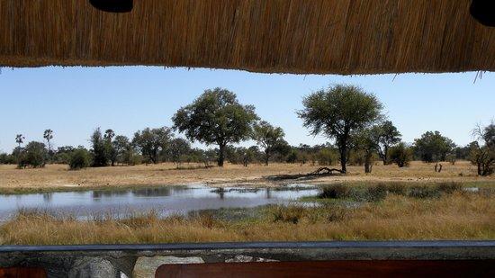Bomani Tented Lodge: vue de la alla à manger
