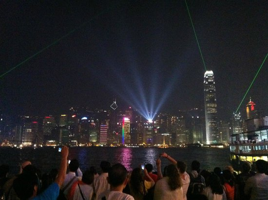 Victoria Harbour: Laser light show!