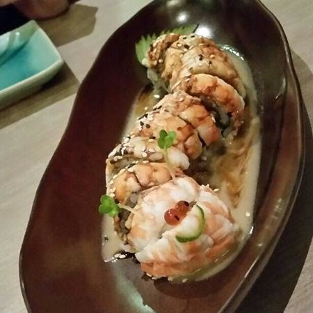 Isao: The Jacky roll swimming in sweet sauce.