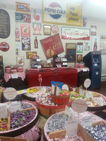 """Opies Candy Store: Can you see the only """"modern"""" thing in the photo? ;)"""