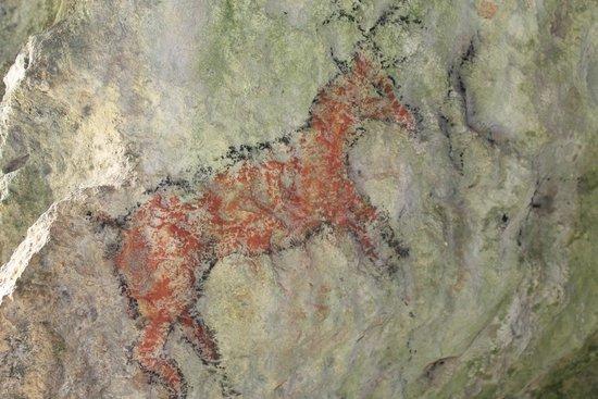 Château de Commarque: peintures dans les habitats troglodythes