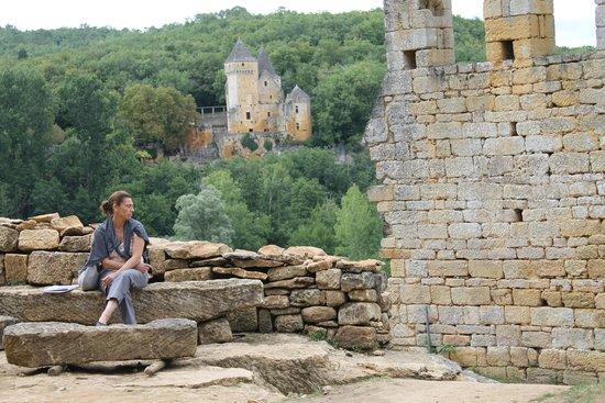 Château de Commarque: partie habitée