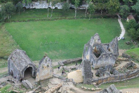Château de Commarque: vue du donjon