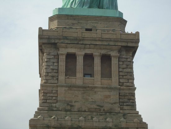 Estatua de la libertad: The pedestal which holds the largest symbol of hope and freedom in the world.