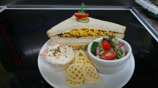 The Wallace Tearooms: Cheese and pickle Sandwich 3.95