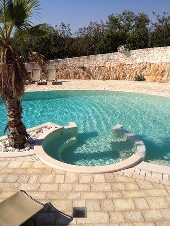 Particolare della piscina idromassaggio foto di - Piscine di rosa ...