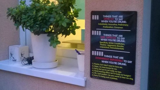 Crazy Duck Hostel: Funny sign
