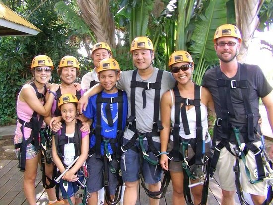 Family time at Maui Zipline Company