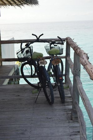 Six Senses Laamu : Bikes provided to guests